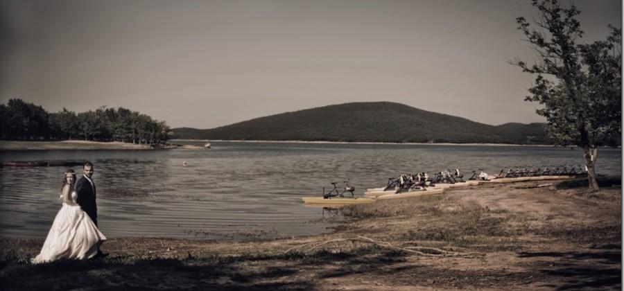 a wedding in Plastira lake at Kazarma lake resort.Rea & Christos wedding