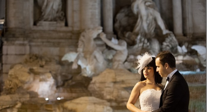 a wedding photo session in Rome Italy