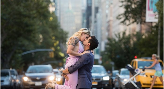 an e-session and a next day shooting in Manhattan