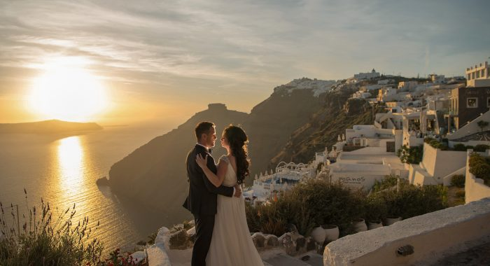 a Santorini post wedding