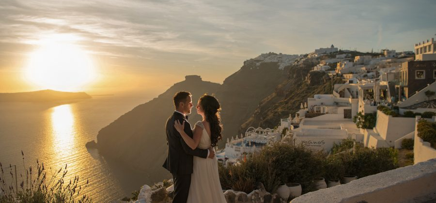 a Santorini post wedding
